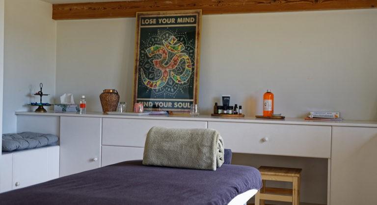 Photo table de massage - Qreative projet hiwbi